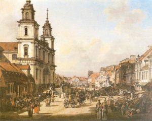 Bernardo Belotto zw. Canaletto - Krakowskie Przedmieście od strony Nowego Światu (177