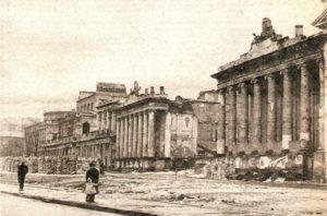 Pałac Komisji Rządowej Przychodów i Skarbu w 1945