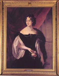 Portret Natalii z Potockich Sanguszkowej, mal. Johann Ender, 1829 r.