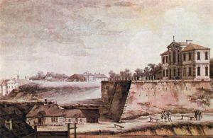Widok pałacu Ordynackiego i klasztoru św. Kazimierza. - Zygmunt Vogel, 1785